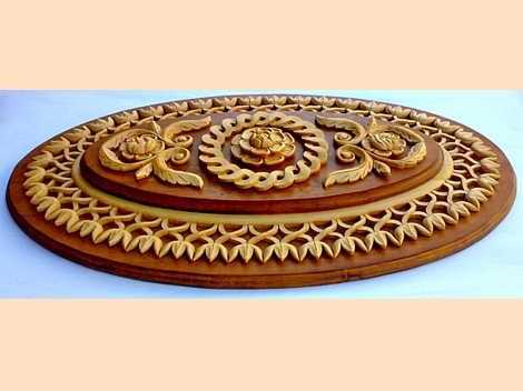 Unique carving – ellipse, ceiling decoration