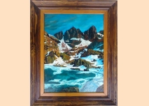 Rila mountain - Scary Lake and Kupenite - Oil painting