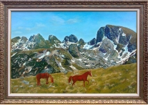 Rila mountain - Landscape from Green Ridge - Oil painting