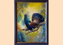 Wood grouse - painting