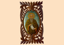 Icon St. Ivan Rislki, wood-carving, walnut tree