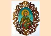 Icon St. Petka, wood-carving, walnut tree