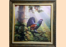 Wood grouse, painting