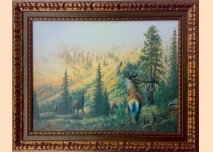 Deer in the Rila Mountains - painting