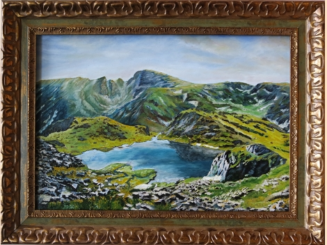 Wild beauty! Rila landscape - Urdina lake with peak Maliovitsa