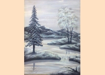 Old Picture - Winter Landscape